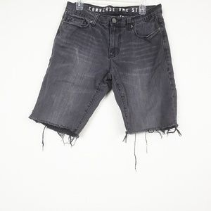 Converse one star premium denim cut off shorts
